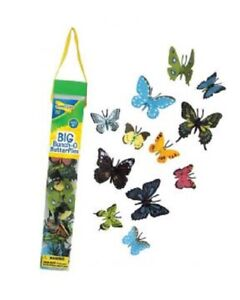 BIG BUNCH of 18 BUTTERFLIES INSECTS TUBE  nature learning resource bug hunt