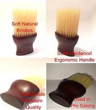 Pro Salon Premium Hardwood Handle Natural Bristle Neck Duster Brush Hair Barber