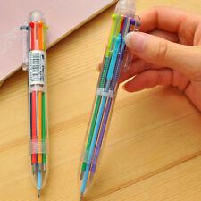 1PC Multi-color 6Color Ballpoint Pen Ball Point Pens Kids Office School Supply