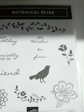 Stampin Up! RETIRED red Rubber Stamp Set BOTANICAL BLISS and Matching BOTANICAL