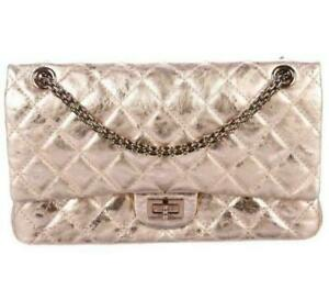 Chanel 2.55 Reissue Rose Gold Quilted Calfskin Leather Flap Classic Chain Bag