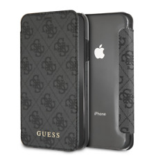 IPhone XR CG MOBILE GUESS CHARMS COLLECTION Grey Book Case Flip Cover Luxury