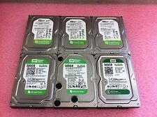 "(Lot of 6) Western Digital Mixed 500GB 3.5"" SATA Desktop Hard Drives - HD99"