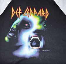 DEF LEPPARD Vintage 3/4 Sleeve Shirt Tour Concert 1987 Hysteria Men's Large L