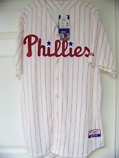 MLB Philadelphia Phillies Pinstripe On Field Authentic Cool Base Jersey Shirt 52