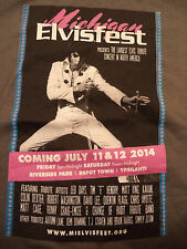 MICHIGAN ELVISFEST t shirt sz M NEW NWOT elvis presley festival rock music