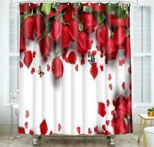 Shower Curtain Hooks Bathroom Bathtub Toilet Shower Cover Decor Flower Painting