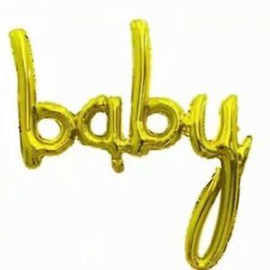 "New ""BABY"" Gold Foil Letters Balloon Anagram Babyshower Gender Reveal 16Inch DIY"