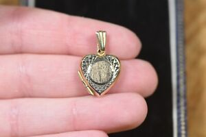 Dainty 9ct Gold Heart Locket Vintage 1973 UK Hallmarked 375 Cute Gifts For Her