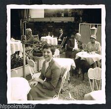 Foto vintage photo, signora straßencafe LADY Sidewalk CAFE FEMME/43-1