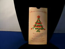 Christmas Tree Pin with Rhinestones in Garland Pattern 3