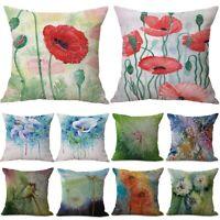 "18"" Flower Dandelion Cotton Linen Pillow Case Sofa Throw Cushion Cover Home Deco"