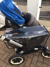 Bugaboo Donkey Side Basket Raincover Rain  Cover NO OPENING