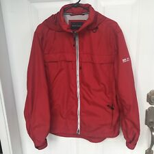 Banana Republic Polyurenthane Windbreaker Water Ressistance Mens Size Medium Red