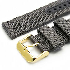 Apollo Tough Webbing Watch Strap Band 20mm Grey