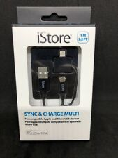 2in1 iStore MFI 8 Pin Lightning + Micro USB Charging Cable For iPhone Android