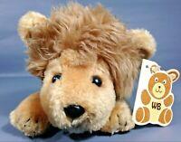 Wallace Berrie Cuddle Ups Lion LOVABLE Plush Vintage 1980 Bean Bag Toy Cat TAG