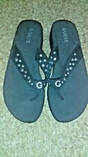 Guess Flip Flops with bling, Black, size 8