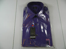 Arrow No Iron Fitted Heritage Poplin Violet Twist LNG SLV 16 1/2 36/37 NWTS