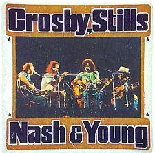 Original Vintage Crosby Stills Nash & Young Mini Iron On Transfer Music