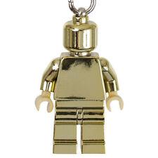 LEGO Chrome Gold Laminated Minifigure Keyring Key Chain 850807