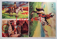 Album LONTANO WEST 1 DARDO 1962 - 4 figurine 93 94 97 98
