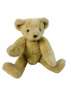 Vintage 1997 Vermont Tan Soft Jointed Posable Teddy Bear EUC