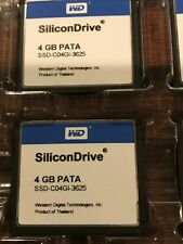 WD SiliconDrive 4GB PATA SSD-C04GI-3652 CF Compact Flash Memory Card