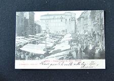 CARTOLINA ROMA PIAZZA CAMPO DEI FIORI MERCATO RARA VIAGGIATA 1903 SUBALPINA ZZ