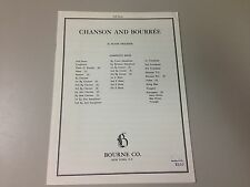 Chanson and Bourree by Frank Erickson  - Concert Band Score - Sheet Music