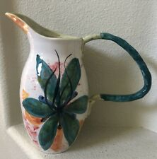 ANTHROPOLOGIE LARGE HAND PAINTED POTTERY VASE MADE IN ITALY