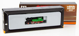 Vintage Marklin Mini-Club 8897 German Z Scale Green 2-6-0 Steam Locomotive 1104
