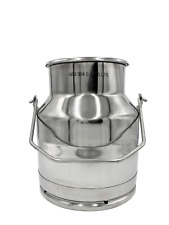 Stainless Steel Milk Tote With Chime Bottom And Large Bail Handle 15 Qt