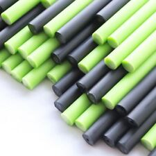 x100 Ghouilish Green Plastic Lollipop Sticks 114mm x 4mm & Black Halloween