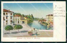 Treviso Città Ponte San Martino RIPARATA cartolina QT3921