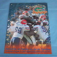 Florida Gators vs South Carolina Gamecocks Football Game Program Magazine 2000