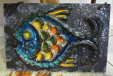 Fisch Keramik Wandplatte Fliese Mid Century Fish ceramic plate 50er 60er Jahre