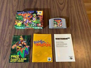 Banjo Kazooie (Nintendo 64, N64) Complete in Box -- Authentic