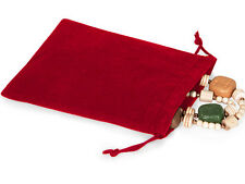 50 RED 5x7 Jewelry Pouches Velour Velvet Gift Bags