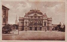 Czech Plzen - Mestske Divadlo old unused sepia postcard