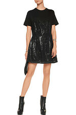 FINAL PRICE: McQ Alexander McQueen Sequin Tulle & Jersey Mini Dress New IT40/UK8