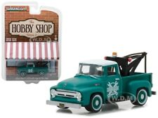 1956 FORD F-100 GREEN WITH DROP-IN TOW HOOK 1/64 DIECAST BY GREENLIGHT 97020 A