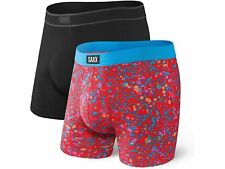 NWT SAXX 2 PACK DAYTRIPPER BOXER BRIEF RELAXED FIT RED, BLACK LARGE
