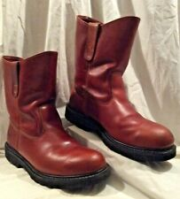 WORX Mens 9½M Brown SteelToed ANSI Safety Western Work Boots Oil Resist Sole EUC