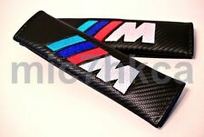 2x carbon fibre seat belt cushion cover pads for M SPORT mod BMW (UK stock)