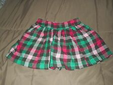 Girls Justice Red/Green/Pink Plaid Skirt  Size 10 R  NWT