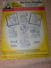 Vintage NOS Aunt Martha's Hot Iron Embroidery Transfers - #3983 DUCK TALES