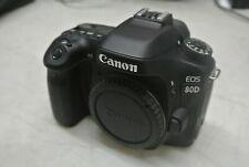 Canon EOS 80D 24.2MP Digital SLR Camera - Black (Body/Battery Only) - *G43*