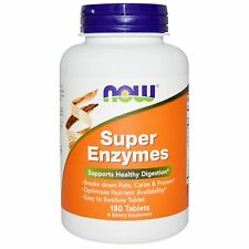 Super Enzymes 180 Tabs NOW Foods Support Digestion - One Tablet Per Serving