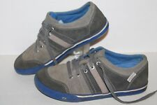 KEEN Jackson Casual Sneakers, #1011803, Grey/Royal, Leather, Men's 5 / 5 Youth